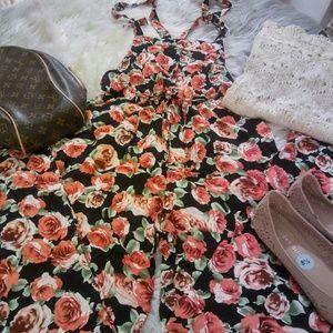 Sale! New Adorable Boho Floral Jumpsuit